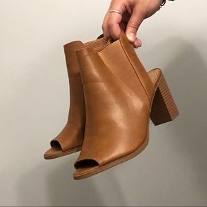 Heeled Peep-toe Booties